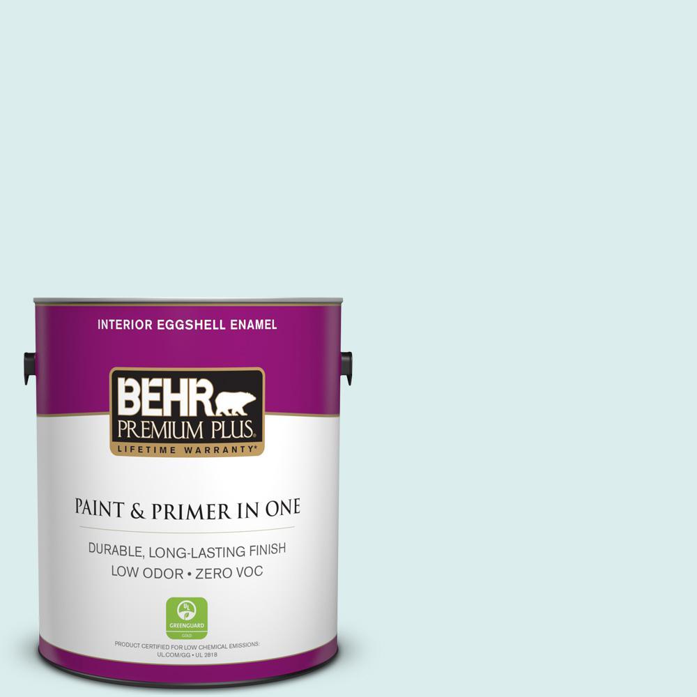 BEHR Premium Plus 1-gal. #520C-1 Spring Rain Zero VOC Eggshell Enamel Interior Paint