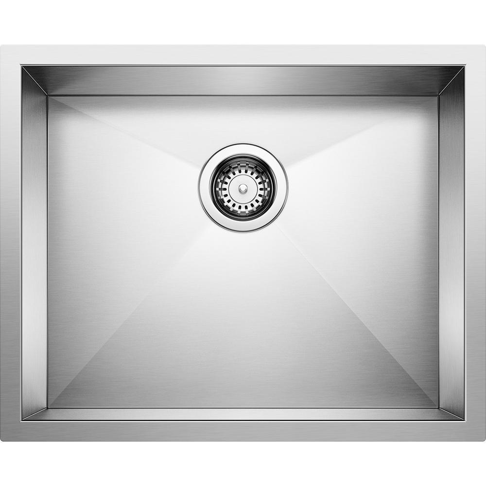 QUATRUS R0 Undermount Stainless Steel 22 in. Single Bowl Kitchen Sink