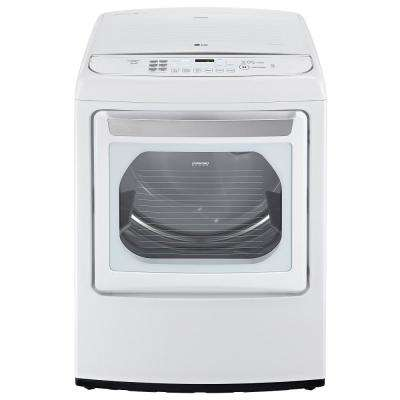 7.3 cu. ft. Gas Dryer with Steam in White