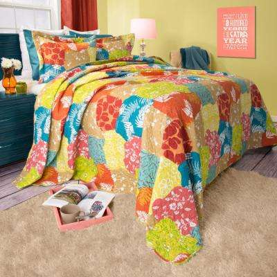 Regan Yellow Polyester Twin Quilt