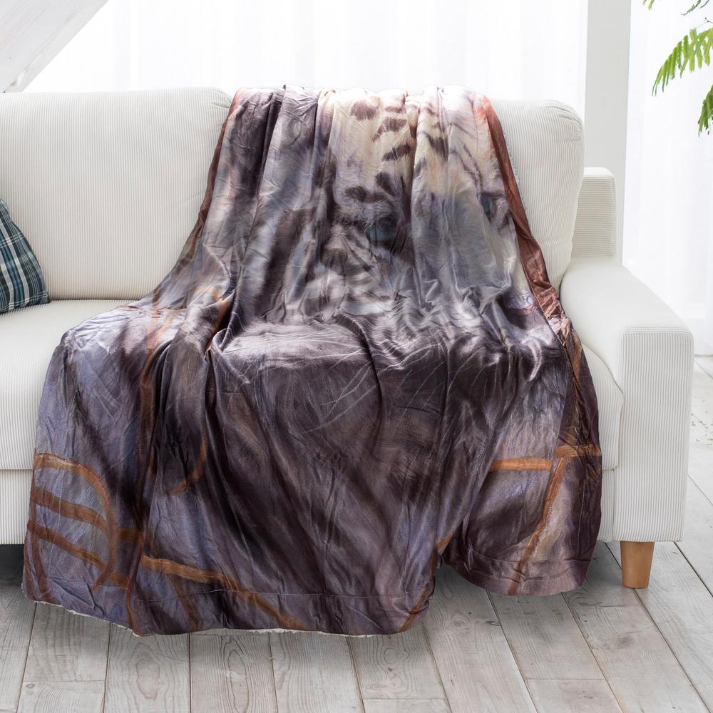 Awesome Ottomanson Dark Brown And Tan Reversible Cotton Twin Woven Machost Co Dining Chair Design Ideas Machostcouk