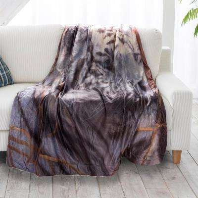 Multi-Color Tiger Print Sherpa Fleece Blanket