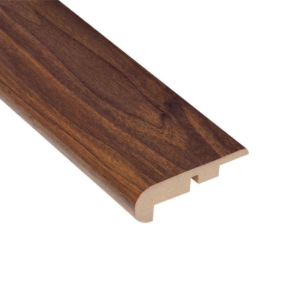 Home Legend High Gloss Ladera Oak 7/16 in. Thick x 2-1/4 in. Wide x 94 in. Length Laminate Stair Nose Molding