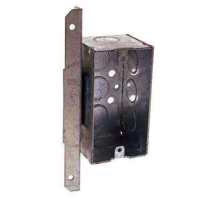 Single Gang Welded Handy Box, 2-1/8 in. Deep with 1/2 in. KO's and A Bracket (50-Pack)