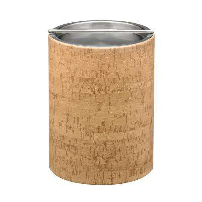 Natural Cork Tall 2 Qt. Ice Bucket with Stainless Bar Lid