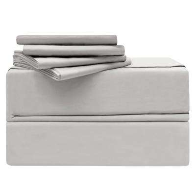 Luxury Cal. King 6-Piece Platinum 620-Thread Count 100% Cotton Sheet Set