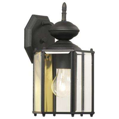 Brentwood 1-Light Black Outdoor Wall-Mount Lantern