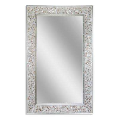 20 in. W x 32 in. H Etched Olive Branch Wall Mirror