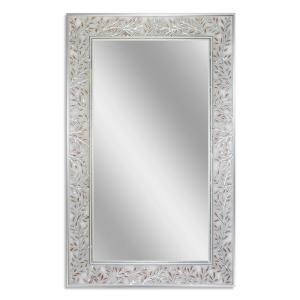 Deco Mirror 20 inch W x 32 inch H Etched Olive Branch Wall Mirror by Deco Mirror