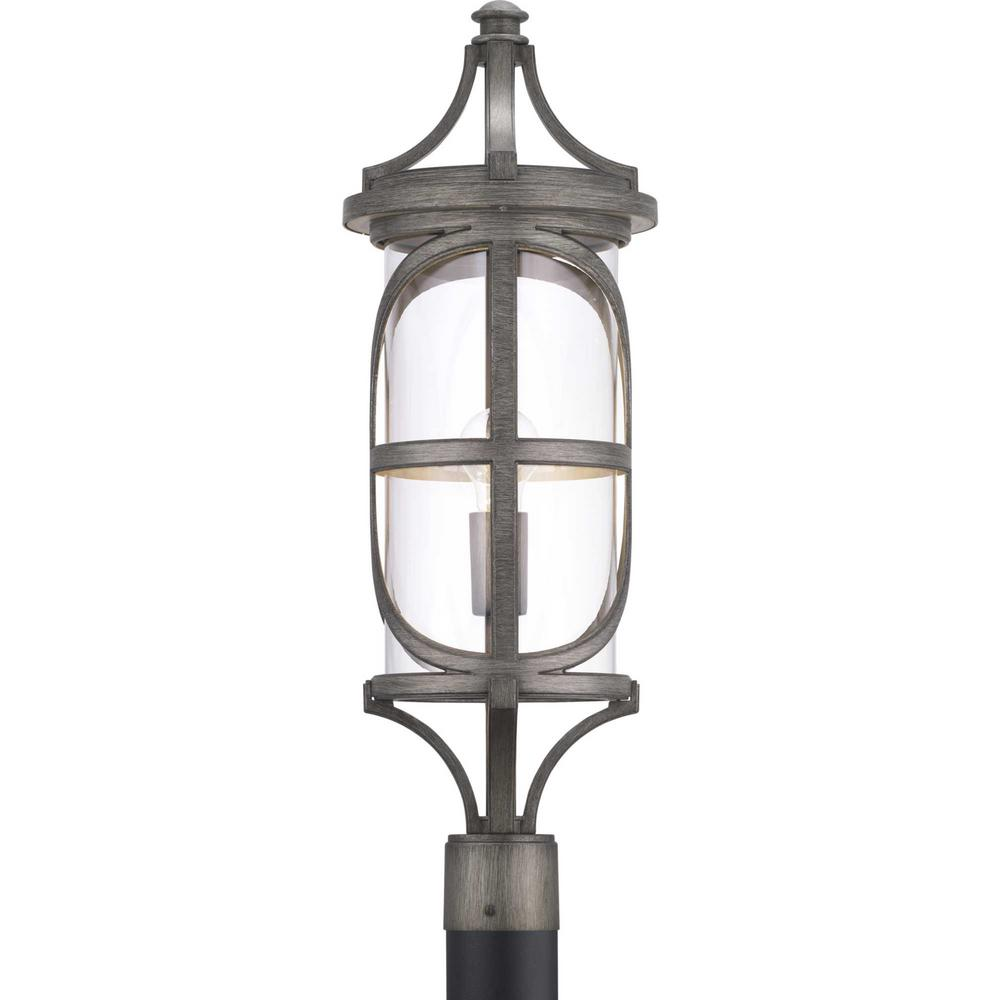 Progress Lighting Morrison Collection 1 Light Outdoor Antique Pewter Post Light
