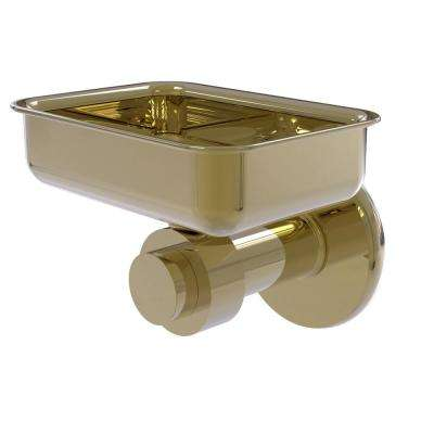 Mercury Collection Wall Mounted Soap Dish in Unlacquered Brass