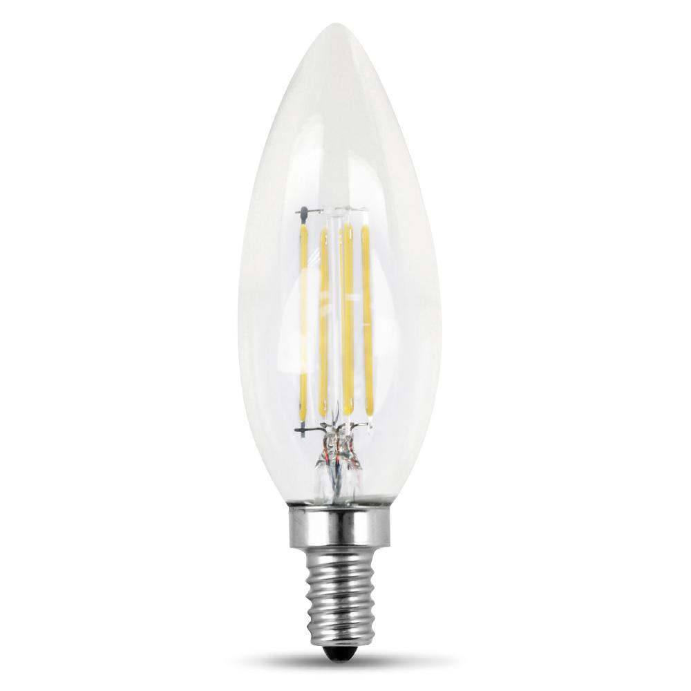 40-Watt Equivalent Daylight B10 Dimmable Clear Filament LED Candelabra Base