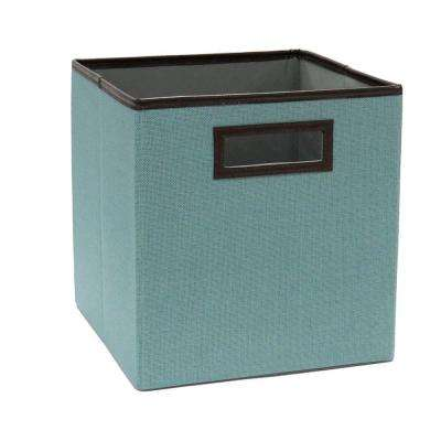 Caribbean Teal Linen Fabric Drawer