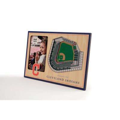 MLB Cleveland Indians Team Colored 3D StadiumView with 4 in. x 6 in. Picture Frame