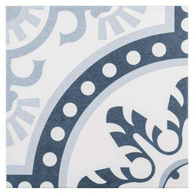 Duart Arctic Encaustic 9-3/4 in. x 9-3/4 in. Porcelain Floor and Wall Tile (10.76 sq. ft. / case)