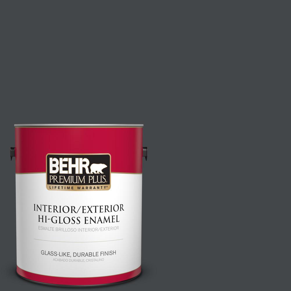 1 gal. #PPU24-23 Little Black Dress Hi-Gloss Enamel Interior/Exterior Paint