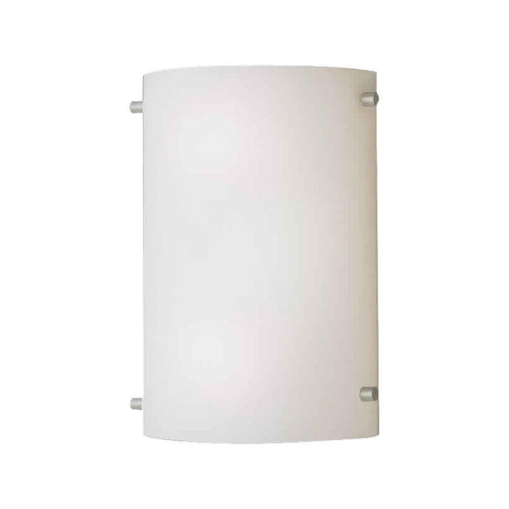 Talista Lucian 2 Light Brushed Nickel Sconce With Satin Opal Gl