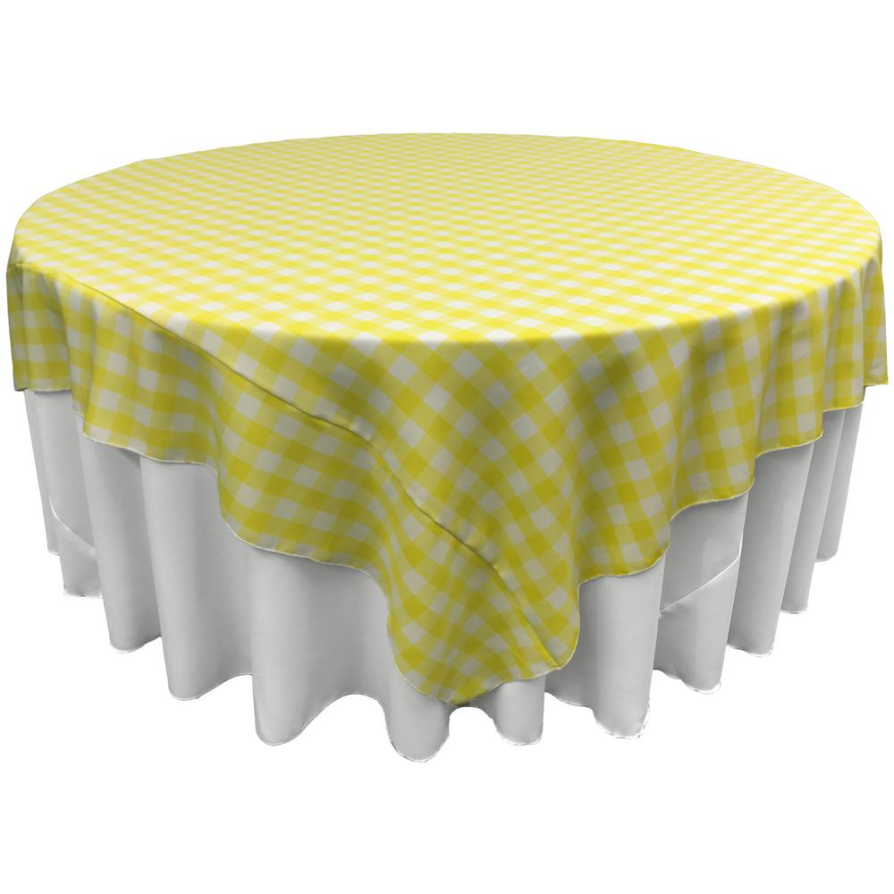 White And Light Yellow Polyester Gingham