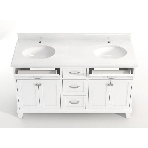 White Artificial Marble Vanity Top