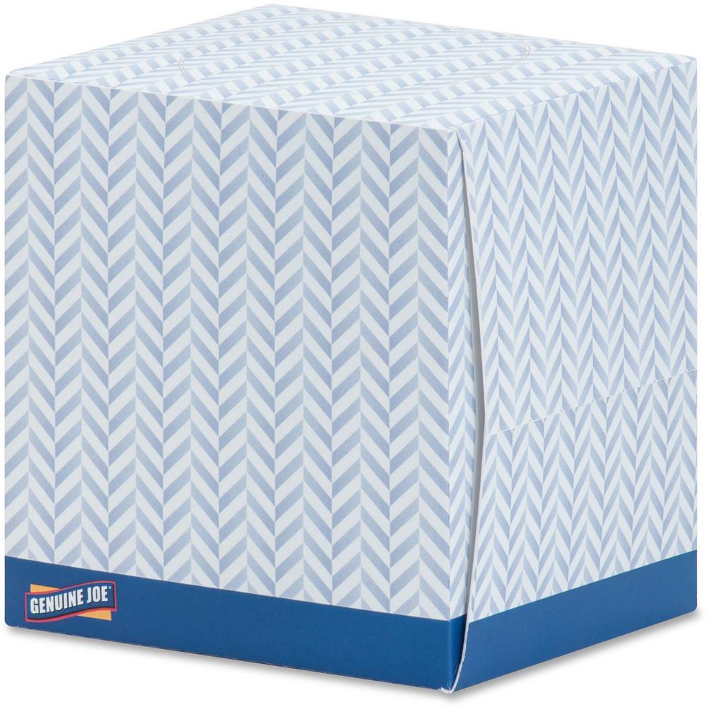 Genuine Joe Cube Box Facial Tissue 2-Ply (36 Boxes/Carton)