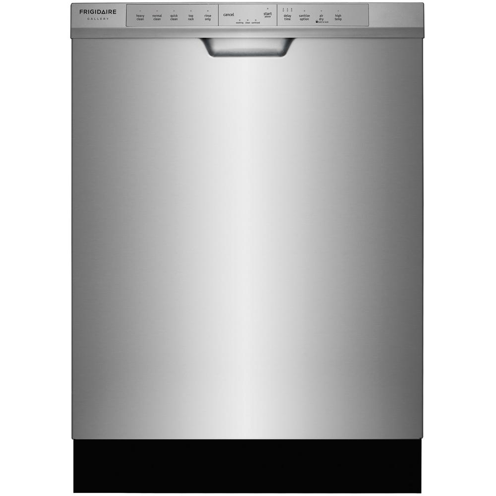 Frigidaire gallery front control dishwasher in smudge proof stainless steel with orbitclean - Dishwasher for small space gallery ...
