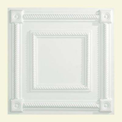 Coffer - 2 ft. x 2 ft. Lay-in Ceiling Tile in Gloss White