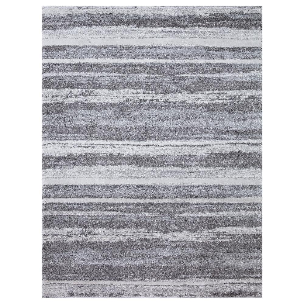 StyleWell Barcas Gray Stripe 5 ft. x 7 ft. Area Rug was $96.76 now $58.06 (40.0% off)