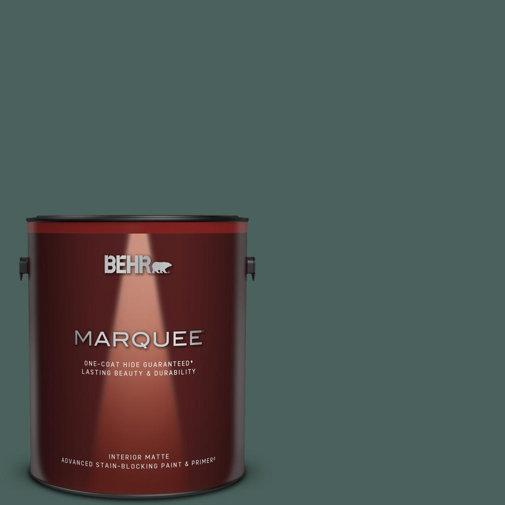 Behr Marquee 1 Gal Bic 54 Vert Pierre Matte Interior Paint And Primer In One 145301 The Home Depot