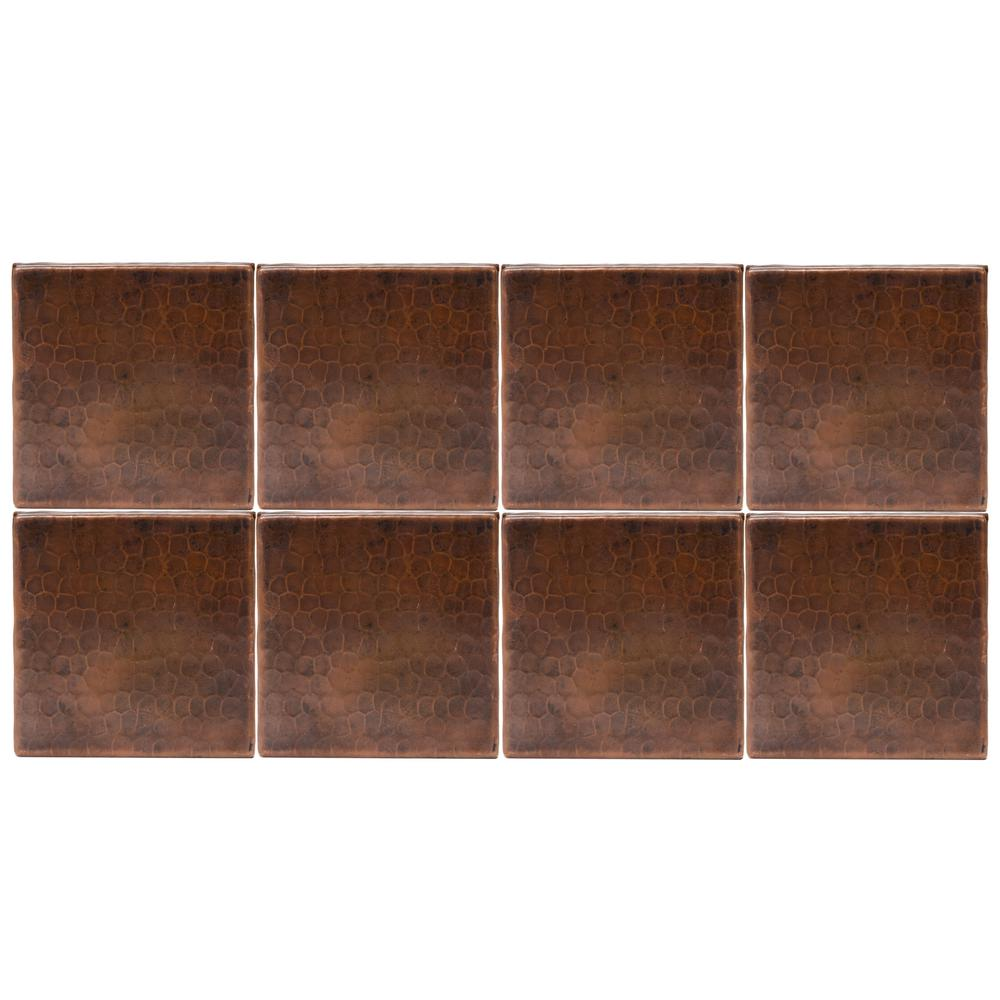 Premier Copper Products 4 In. X 4 In. Hammered Copper
