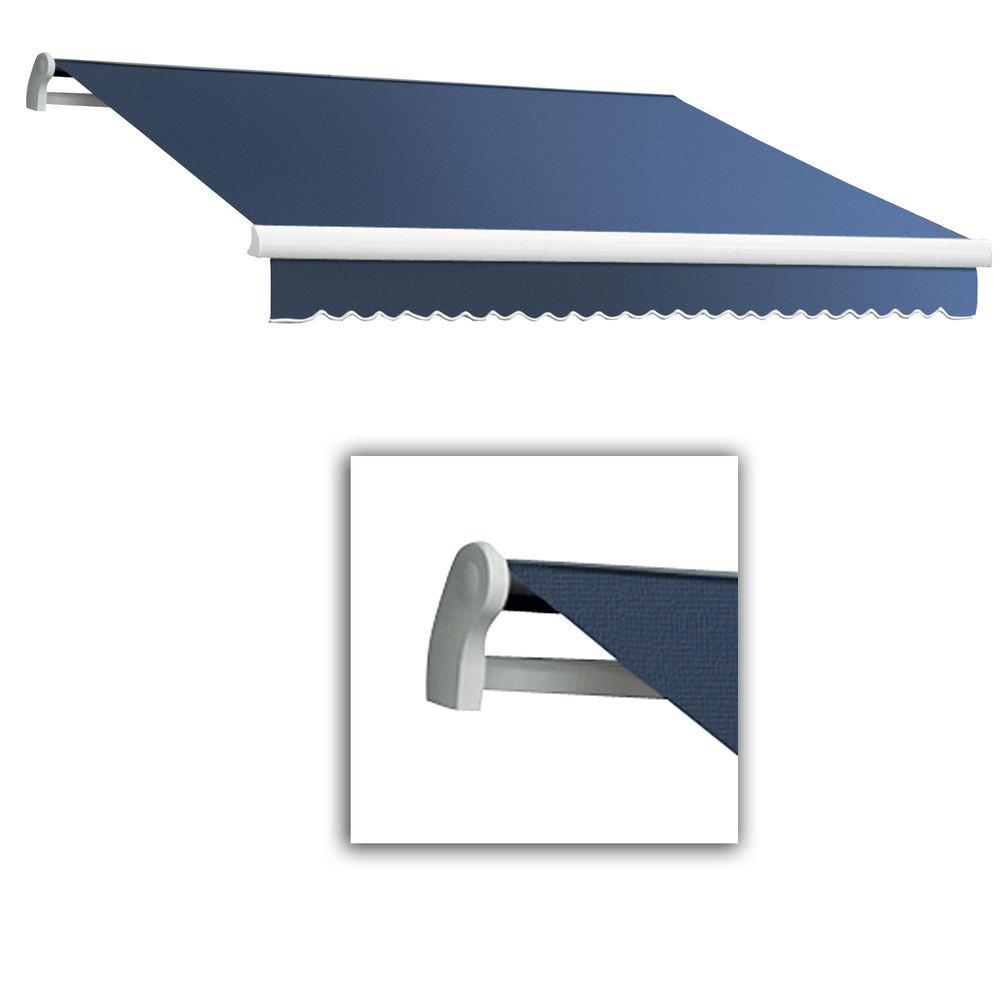 AWNTECH 18 ft. Maui-LX Left Motor Retractable Acrylic Awning with Remote (120 in. Projection) in Dusty Blue