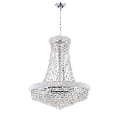 Empire 19-light chrome chandelier