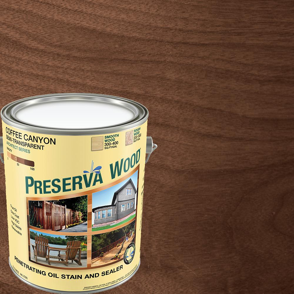 Preserva Wood 1 Gal Semi Transparent Oil Based Coffee