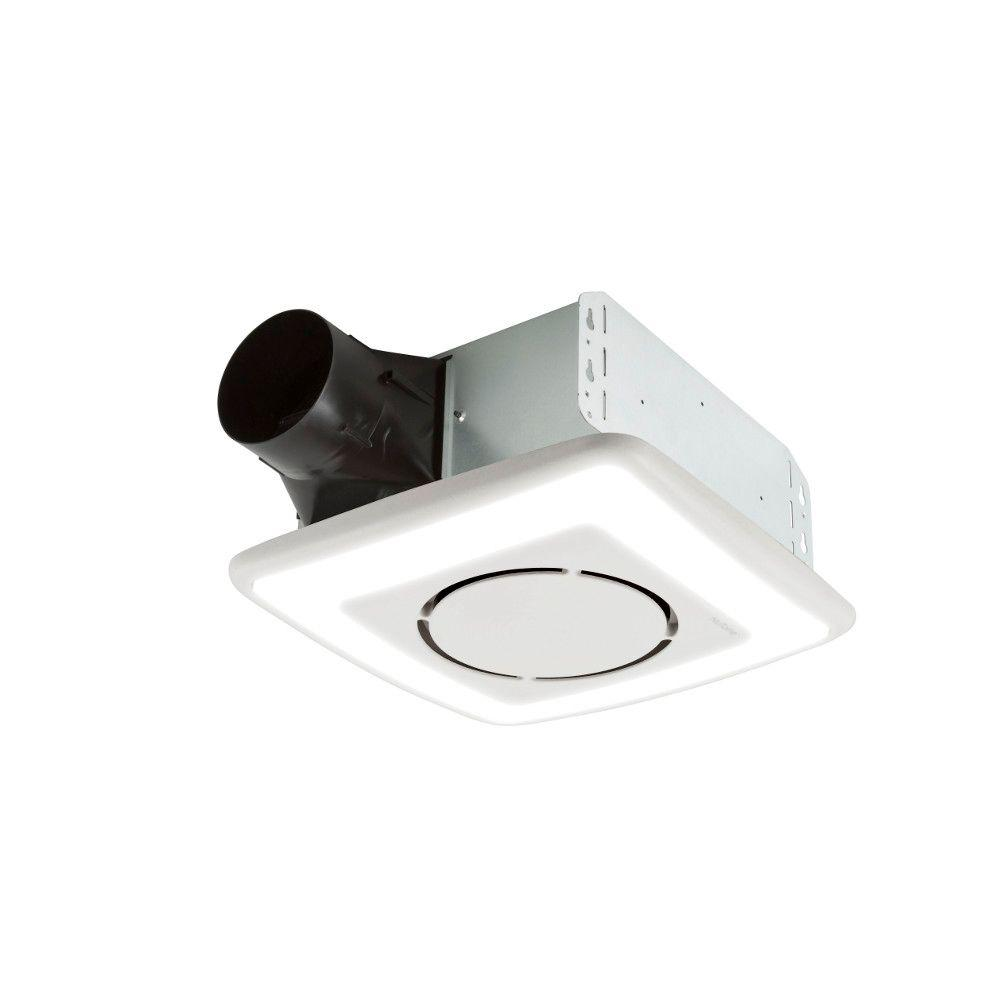 Nutone Invent Series 110 Cfm Ceiling Roomside Install Bathroom Exhaust Fan With Light And Soft Surround Led Energy Star 791ledntm The Home Depot