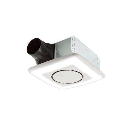Roomside Series 110 CFM Ceiling Install Bathroom Exhaust Fan with Light and Soft Surround LED, ENERGY STAR*