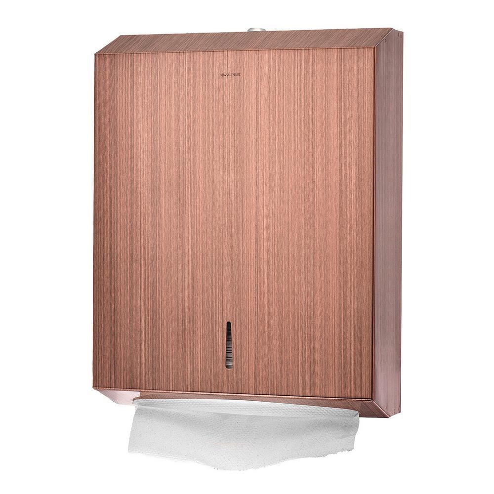 C-Fold/Multi-Fold Rose Gold Brushed Stainless Steel Paper Towel Dispenser