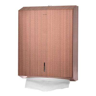 C-Fold/Multi-Fold Rose Gold Brushed Stainless Steel Paper Towel Dispenser