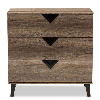 Wales 3-Drawer Light Brown Chest
