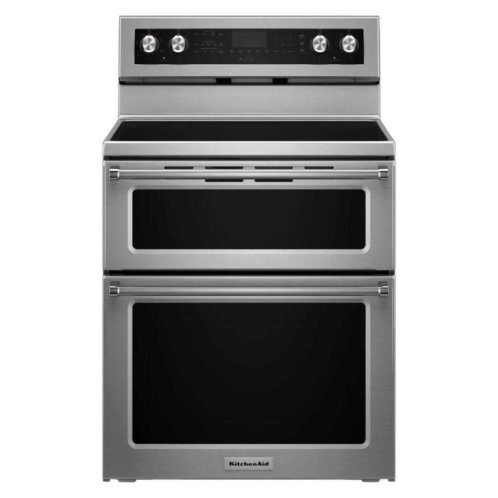 KitchenAid 30 in. 6.7 cu. ft. Double Oven Electric Range ...
