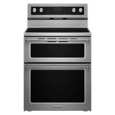 6.7 cu. ft. Double Oven Electric Range with Self-Cleaning Convection Oven in Stainless Steel