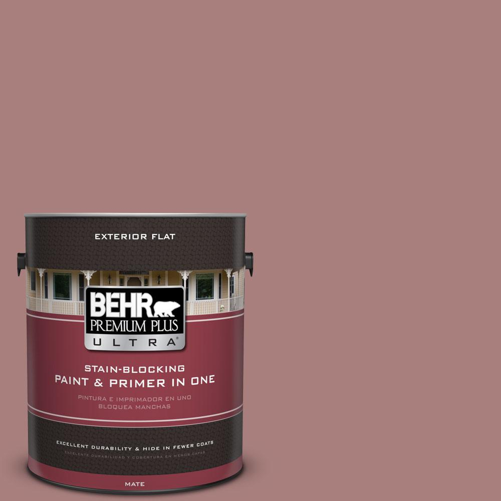 1-gal. #140F-4 Bedford Brown Flat Exterior Paint