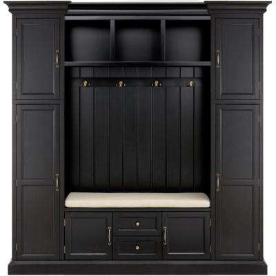 "Royce Solid Black 79.25"" W Hall Tree"