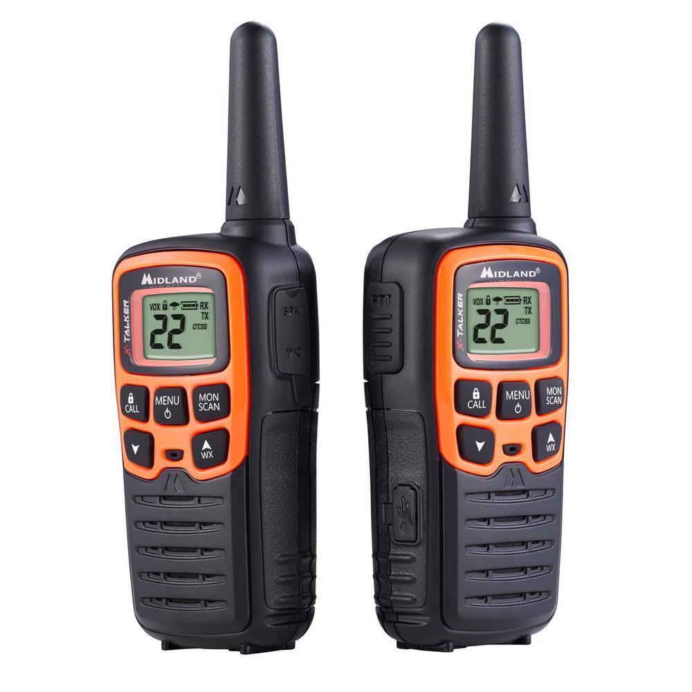 Midland X Talker 28 Mile 2 Way Radios With Dtc And Usb