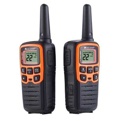 X-Talker 28-Mile 2-Way Radios with DTC and USB Charger in Black