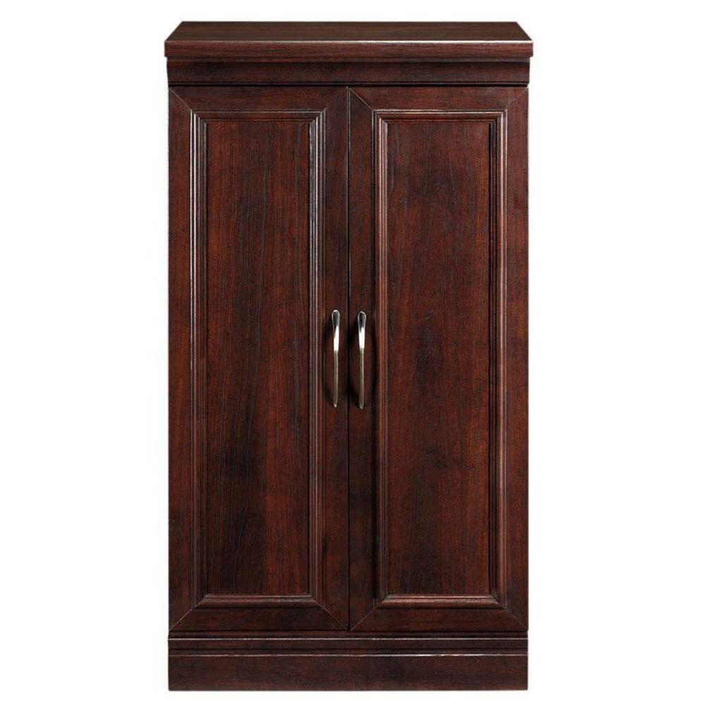 Manhattan 2-Door Wood Modular Storage Cabinet in Cherry