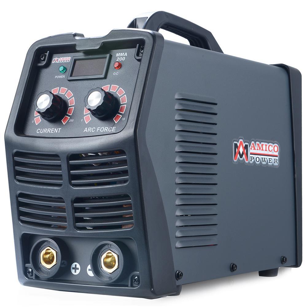 200 Amp Stick Arc DC Inverter Welder, 110/230V Dual Voltage Welding
