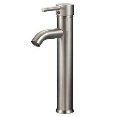 Qinus Single Hole 1-Handle Vessel Bathroom Faucet in Brushed Nickel