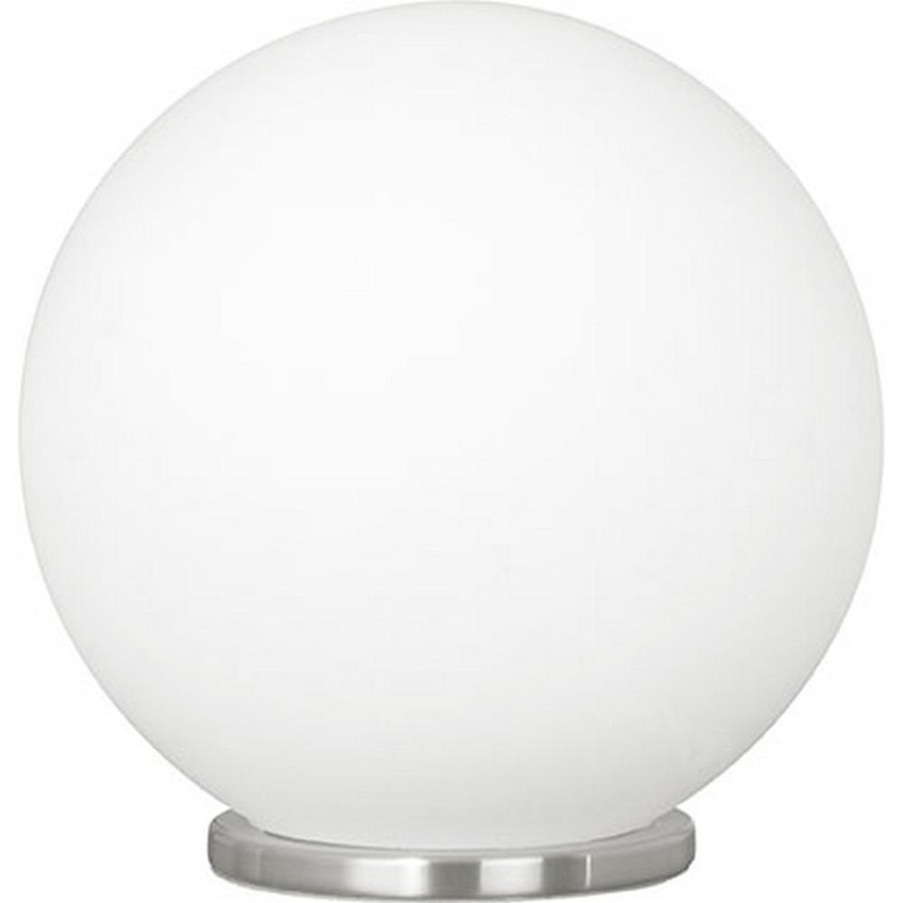 Eglo Rondo 8.25 In. 1 Light Satin Nickel Table Lamp