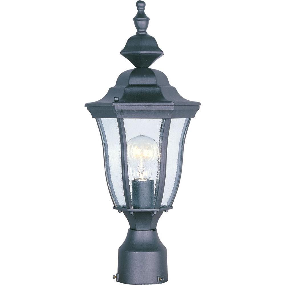 Maxim Lighting Madrona 1 Light Black Outdoor Pole Post