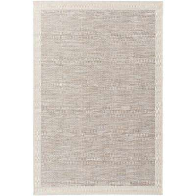 Evonne Taupe 4 ft. x 6 ft. Indoor/Outdoor Area Rug