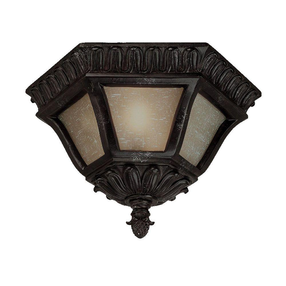 Acclaim Lighting Renaissance Collection Ceiling-Mount 2-Light Outdoor Marbelized Mahogany Light Fixture
